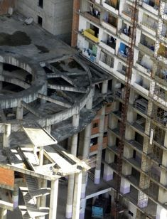 Torre de David in Venezuela, slum high rise in downtown Caracas