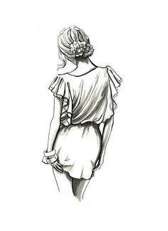 Fashion illustration pencil simple new Ideas Pencil Art Drawings, Art Drawings Sketches, Cute Drawings, Sketch Drawing, Hipster Drawings, Fashion Drawings, Fashion Sketches, Illustration Mode, Illustration Fashion