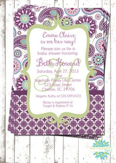 Hey, I found this really awesome Etsy listing at http://www.etsy.com/listing/127989966/purple-paisley-a-customizable-baby