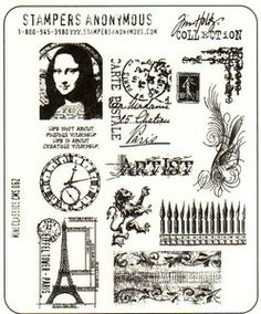 *Tim Holtz Cling Rubber Stamps MINI CLASSICS Stampers Anonymous