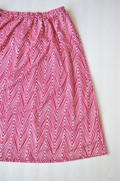 Mylo chevron print swing skirt