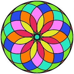 mandala Mandala Art, Mandalas Drawing, Mandala Coloring Pages, Coloring Book Pages, Mandala Design, Mosaic Projects, Stained Glass Patterns, Rangoli Designs, Geometric Art