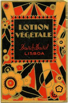 "Vintage ""David & David"" cosmetics label from Portugal"