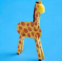 clothes peg giraffe