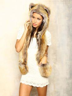 I want one sooo badly!  ♡ Spirit hood :: ADULTS :: Women's Full Hoods :: Red Fox
