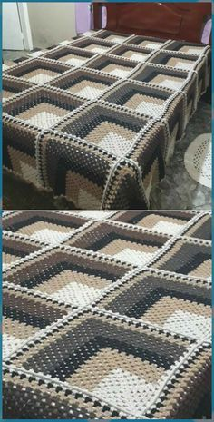 Awesome Crochet Blanket - Craft Ideas - knitting is as easy as 3 . free pattern easy ideas Awesome Crochet Blanket - Craft Ideas - knitting is as easy as 3 . Crochet Quilt, Crochet Blocks, Afghan Crochet Patterns, Baby Blanket Crochet, Free Crochet, Knitting Patterns, Quilt Baby, Knitted Baby, Crochet Afghans