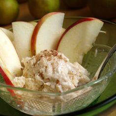 Manzanas con crema de yogur sana