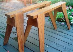 Ah! E se falando em madeira...: Cavalete de Tim Killen