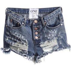 One Teaspoon Pacifica Romeos Cut Off Shorts ($50) ❤ liked on Polyvore featuring shorts, cut off shorts and cutoff shorts