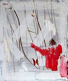 """Woman in Pink,"" original abstract painting by artist Ilian Savkov available at Saatchi Art #SaatchiArt"