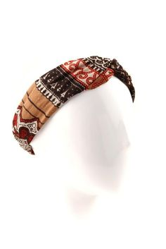 twist and shout hair bando AZTEC