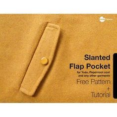 Waffle Patterns • Welt Pocket with Flap (Free pattern and Tutorial)