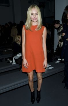 Kate Bosworth. less is way more. Also love her middle part lob (long bob)