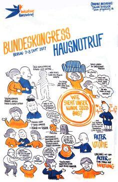 Graphic Recording: Bundeskongress Hausnotruf Berlin, Chart, Sketchbooks, Tinkerbell, Life, Sketch Books
