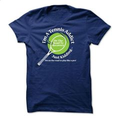 Tennis Addict - design t shirts #shirt ideas #grey tee