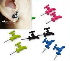 .faucet earrings.