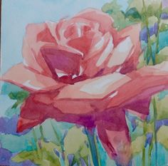 A Rose for Susan, painting by artist Jo MacKenzie