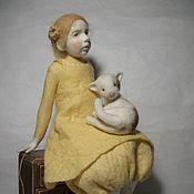 Куклы и игрушки ручной работы. Ярмарка Мастеров - ручная работа валянная кукла Майя. Handmade.
