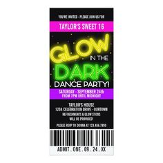 421 best dance birthday party invitations images on pinterest