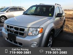 2011 Ford Escape XLT Silver $14,977 93707 miles 719-900-3881 Transmission: Automatic  #Ford #Escape #used #cars #LimonChryslerJeepDodge #Limon #CO #tapcars