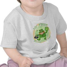 Baby's First St.Patrick's Irish Leprechaun T-Shirt @zazzle