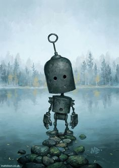 Homepage for illustrator Matt Dixon. Creator of the Transmissions series of robot artwork. Forest Illustration, Love Illustration, Matt Dixon, Arte Robot, I Robot, Steampunk, Gothic Fantasy Art, Robot Concept Art, Vincent Van Gogh