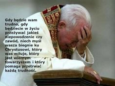 Zdjęcie przedstawia SW. JANA PAWŁA II podczas modlitwy w Lourdes Juan Pablo Ii, Good Sentences, My Dream Came True, Music Humor, Religious Quotes, New Things To Learn, Life Advice, Inspirational Thoughts, Trust God