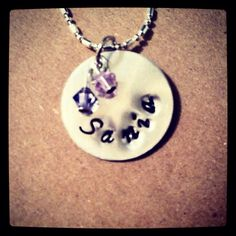 My first stamped necklace for my niece. Love making!!!!