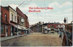 Items similar to Blackrock Ireland Postcard, Main Street, Trams Trolleys, F. von Bardeleben on Etsy Ireland Pictures, Old Pictures, Old Photos, Main Street, Street View, Ireland Homes, Overnight Shipping, Rural Area, Local History