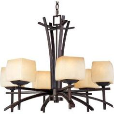 Check out the Maxim 10985WSRC 6 Light Chandelier