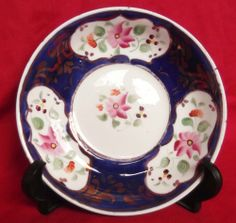 Antique Gaudy Welsh Saucer, Early 19th Century, ca.1820