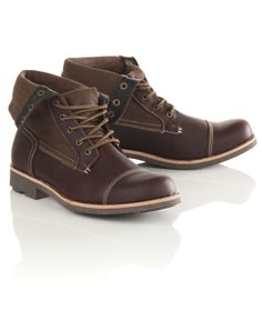 Twisted Soul Canvas Fold Down Brown Boots