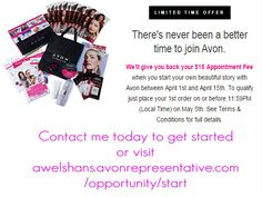 Looking for some extra income? Now is the time to join. Have questions contact me today or visit the link below and get started today. awelshans.avonrepresentative.com/opportunity/start #avon #avonrep #avonopportunity
