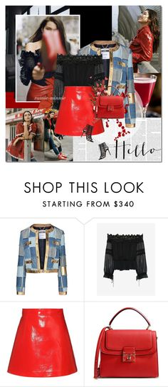 """Bella Hadid"" by rainie-minnie ❤ liked on Polyvore featuring Bellini, Moschino, self-portrait, Miu Miu, Dolce&Gabbana and Gianvito Rossi"