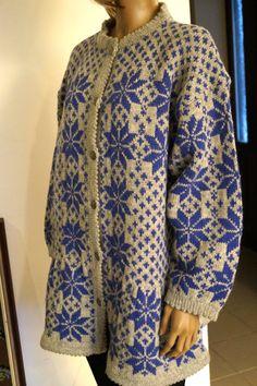 Vintage Norwegian womens Cardigan Handmade Scandinavian