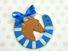 Horseshoe Ornament, Horse ornament,personalized,hand painted,Christmas ornament, KY Christmas, wood ornament, painted,horse, horse shoe by HazelMartinDesigns on Etsy