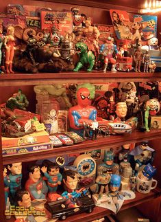 The Annual Toy Shelf Shuffle Record Display, Action Figure Display, Toy Display, Retro Toys, Vintage Toys, Vintage Ideas, Vintage Designs, Toy Shelves, Toy Rooms
