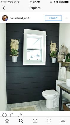 Shiplap accent wall Half bath or laundry room