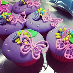 Kenzie would love these...Pink Butterfly Cupcakes