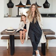 Colleen Crivello of @minimodeny and her daughter Alba showing us around their Tribeca home for a Closet Copycat feature on HATCHland. Colleen is wearing The Twilight Jumpsuit and The Trench.