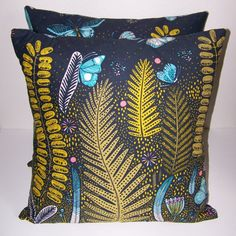 18x18 Down Pillows with removable covers made by ZoeJonesDesigns