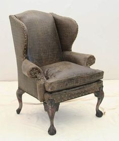 Amazing Old Hickory Tannery Swamp Croc Wing Back Chair Western Accent Chairs    Etched Croco Design On