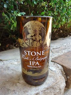 Recycled Beer Bottle Glass from a Stone Cali Belgique IPA beer bottle by ConversationGlass, $18.00