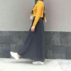 New fashion hijab style casual Ideas Islamic Fashion, Muslim Fashion, Modest Fashion, Hijab Fashion, Fashion Outfits, Fashion Muslimah, Hijab Style, Hijab Chic, Moslem