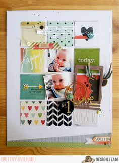 No. 1 Love #layout by Brittny Kvilhaug #scrapbooking