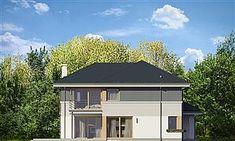 Projekt domu Sydney 267,35 m2 - koszt budowy - EXTRADOM Morden House, New Builds, Home Fashion, Exterior Design, Townhouse, Gazebo, House Plans, Shed, New Homes