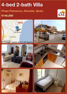 4-bed 2-bath Villa in Playa Flamenca, Alicante, Spain ►€145,000 #PropertyForSaleInSpain