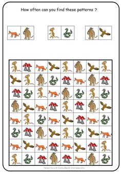 The Gruffalo. Easy and engaging pattern fun for visual discrimination.