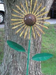 butter knife sunflower art