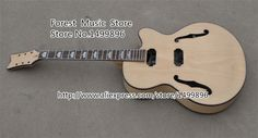 Unfinished Electric China Guitar Hollow Body Guitar Kits Left Handed Custom Available In Stock